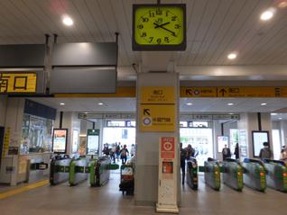 ①JR錦糸町駅 南口改札を出ます。